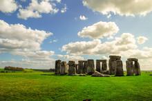Mystical Stonehenge On A Sunny...
