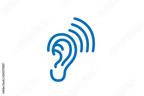 ear icon vector Fototapete