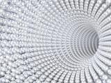 Fototapeta Fototapety przestrzenne i panoramiczne - Pearl tunnel as a background for jewelry 3d rendering