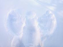 Snow Angel Winter Closeup Background
