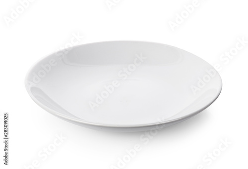 Obraz na płótnie ceramic plate isolated on white background