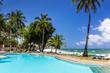 Leinwandbild Motiv Swimming pool of luxurious african resort