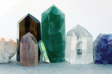 A Collection Of Stone Crystals For Healing And Energy Meditation.