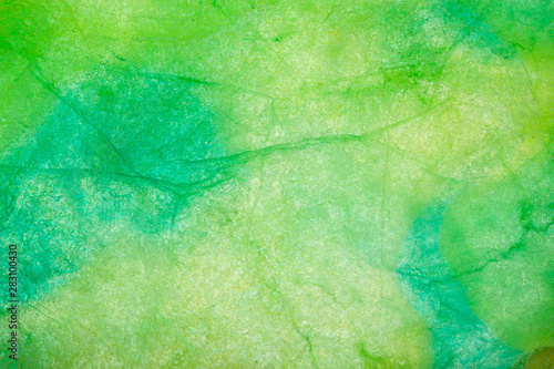 Fotografering  Green and blue ice texture  abstract background