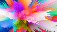 Creative Mixed Color Explosion