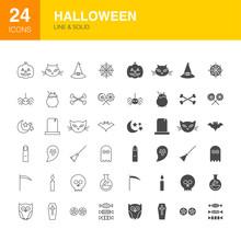 Halloween Line Web Glyph Icons