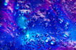 canvas print picture Liquid art gel gradient blue violet background