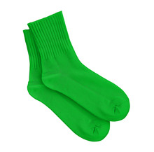 Green Socks On An Isolated Whi...
