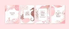 Set Of Wedding Cards, Invitati...