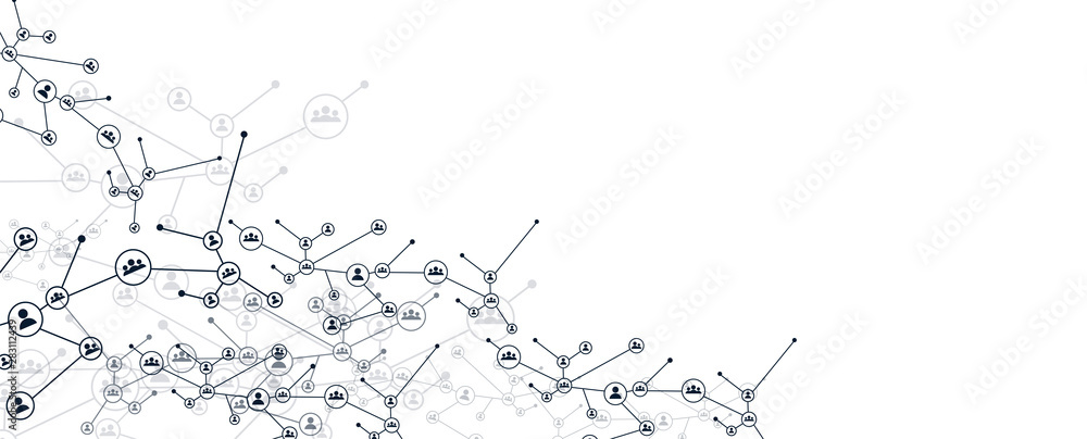 Fototapeta rete, intrecciata, persone, condivisioni, network, tecnologia,