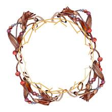 Belts Sketch Fashion Glamour Illustration. Watercolor Background Illustration Set. Frame Border Ornament Square.