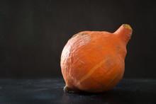 Ugly Organic Pumpkin On Black....