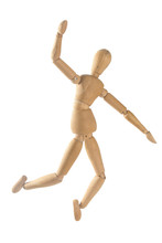 Wooden Doll, Jumps, Falls