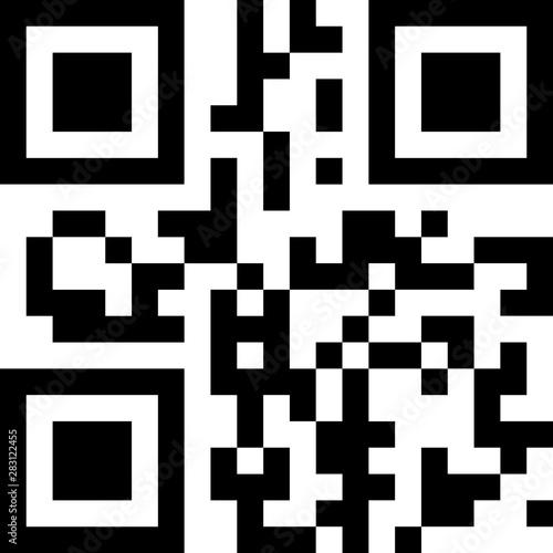 Valokuvatapetti qr code icon information scan
