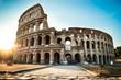 Leinwanddruck Bild - Colosseum At Sunrise In Rome, Italy