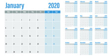 Calendar Planner 2020 Template...