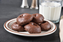 Chocolate Donuts And Milk