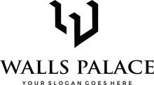 Wall Palace Logo Or W Mark Icon Ilustration