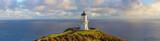 Cape Reinga lighthouse panorama, Pacific ocean, New Zealand