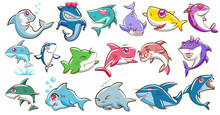Shark Vector Set Graphic Clipa...
