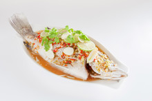 Steamed Seabass With Lemon Sauce