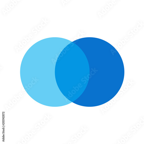 two overlapping circles design vector and marketing can be used for workflow layout, annual report, web design. Business concept with steps or processes