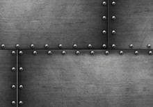 Grunge Steel Background With Rivets
