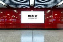 Blank Billboard Located In Und...