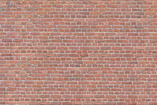 Old Red Brick Wall Background,...
