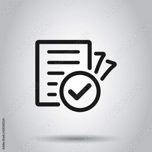 Valokuva  Compliance document icon in transparent style