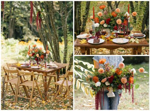 Fotografie, Tablou  Dinning Table Set For Wedding