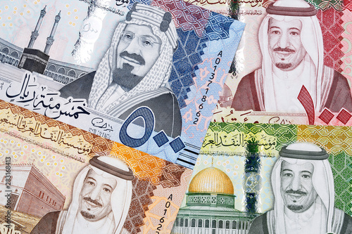 Fotografie, Tablou  Saudi Riyal a business background