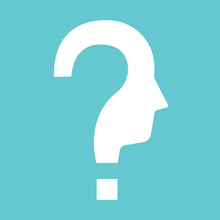 Question Shaped Head Silhouette