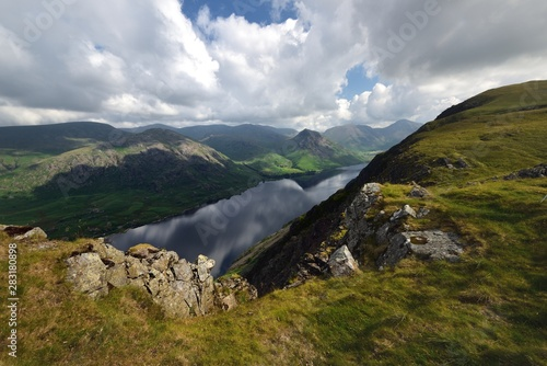 White clouds over Wasdale and Wast Water Canvas Print