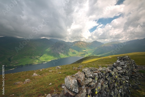 Dark clouds over Wasdale and Wast Water Canvas Print