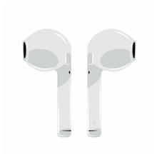 Air Icon Headphones Wireless Earphones Garniture Electronic Gadget Pod -vector Illustration