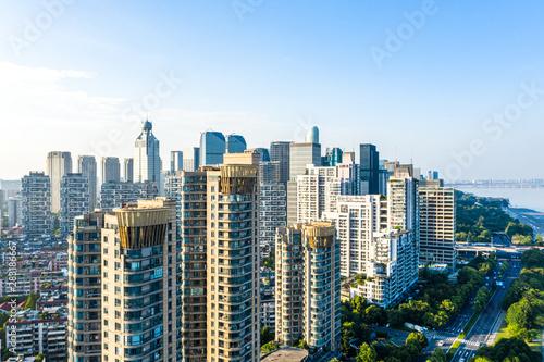 Photo panoramic city skyline in hangzhou china