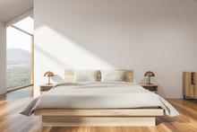 Stylish White Attic Bedroom In...