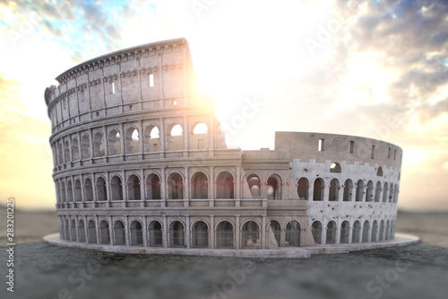 Photo  Coliseum Colosseum at sunrise. Symbol of Rome and Italy,