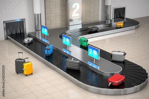 Obraz na plátně  Baggage claim in airport terminal