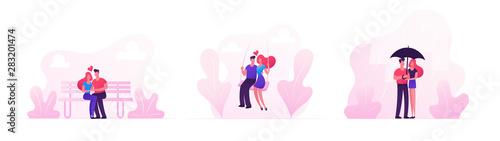 Loving Couples Set Obraz na płótnie