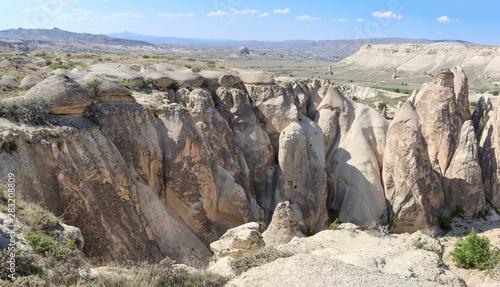 Spoed Foto op Canvas Grijze traf. Stone formations in Pasabucagi Valley, Cappadocia, Turkey. The rock sites of Cappadocia are a UNESCO World Heritage Site.