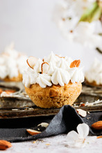 A Single Carrot Cupcake With Buttercream