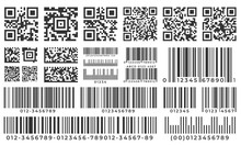 Barcodes. Scan Bar Label, Qr C...