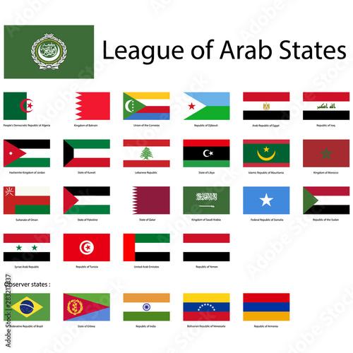 Slika na platnu League of Arab States