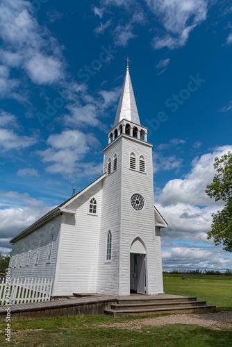 Obraz na plátně The Saint Antoine de Padoue Roman Catholic church at Batoche, Saskatchewan
