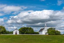 The Saint Antoine De Padoue Roman Catholic Church At Batoche, Saskatchewan.