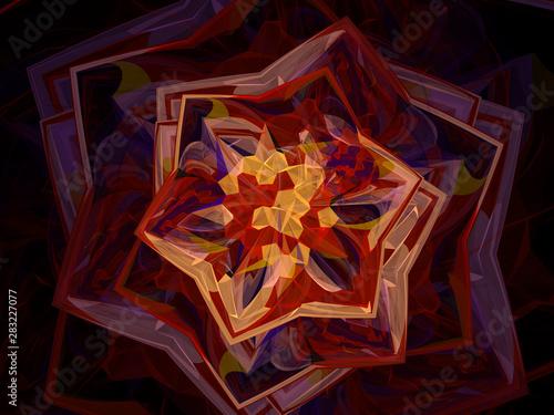 surreal futuristic digital 3d design art abstract background fractal illustratio Wallpaper Mural