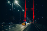 The night view of Bosphorus Bridge, Fatih Sultan Mehmet, Istanbul