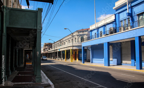 Streets of Kingston in Jamaica - the caribbean island Poster Mural XXL